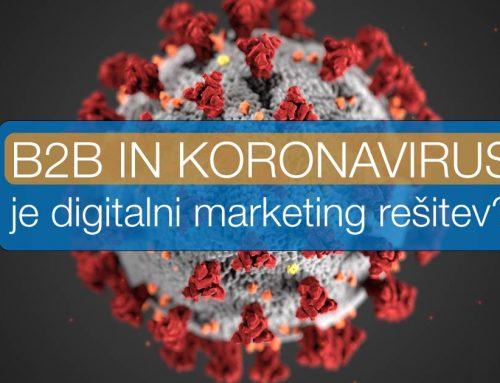 Koronavirus – Je digitalni marketing rešitev za izgubljene sejme?