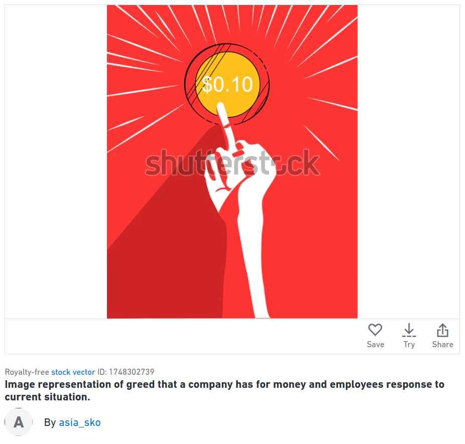 Shutterstock disconent