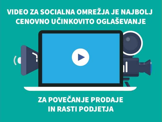 Branding video narejen specifično za socialna omrežja, bo deležen tudi več delitev