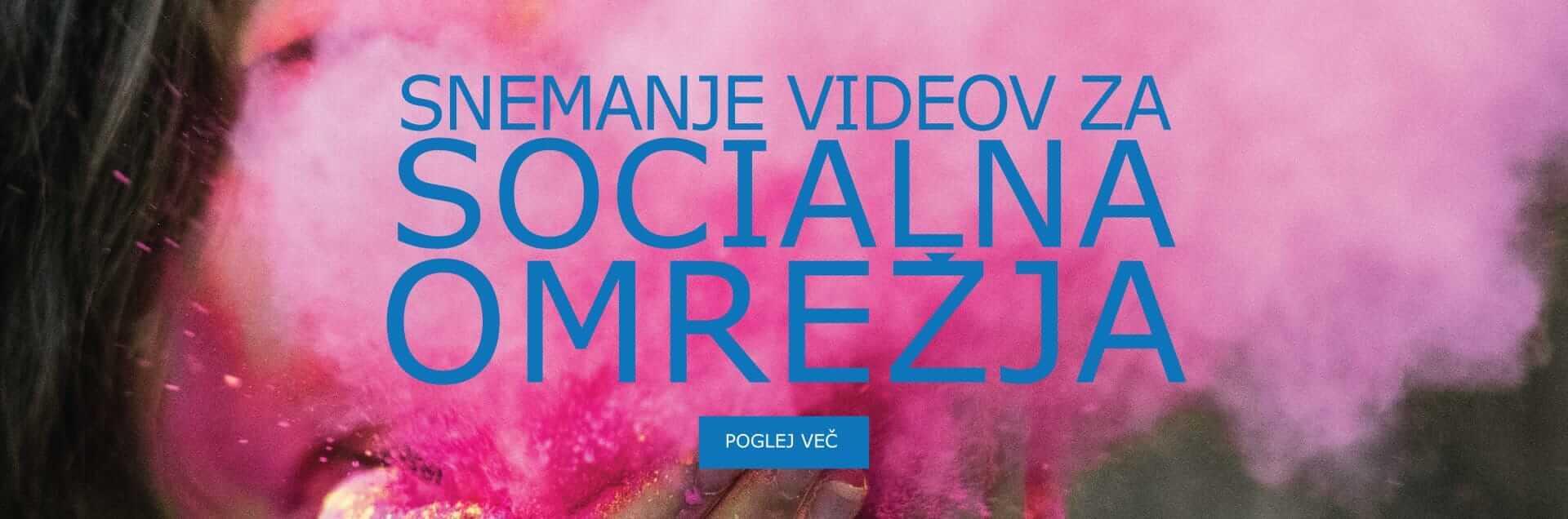 Snemanje videov za socialna omrežja